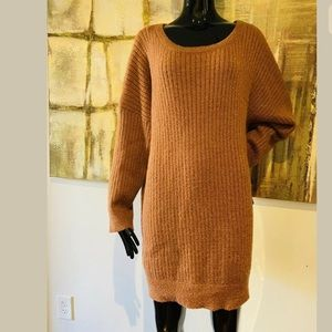 Favlux Fashion Drop Sleeve Ribbed Sweater Dress